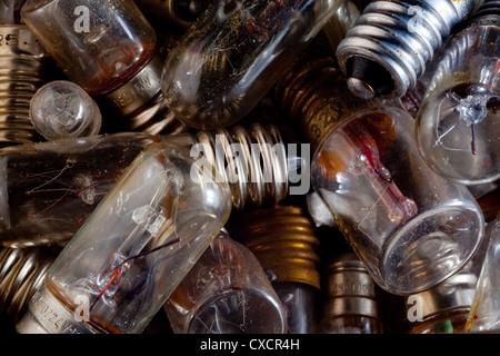 Vecchie lampadine Foto Stock