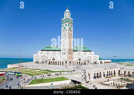 Moschea Hassan II, il terzo più grande moschea del mondo, Casablanca, Marocco, Africa Settentrionale, Africa Foto Stock