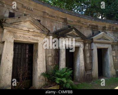 Il cimitero di Highgate a ovest di Londra. Foto Stock
