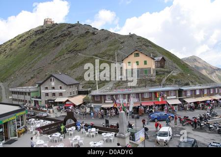 Passo dello Stelvio, italiano sulle Alpi Centrali Foto Stock