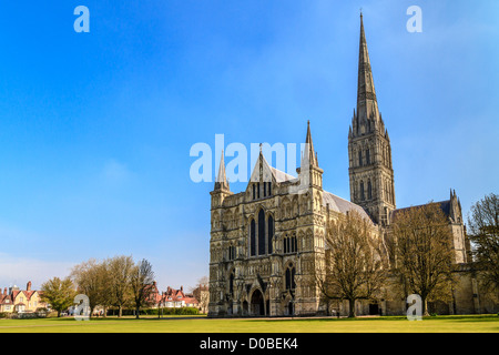 La Cattedrale di Salisbury, Sud Inghilterra Foto Stock