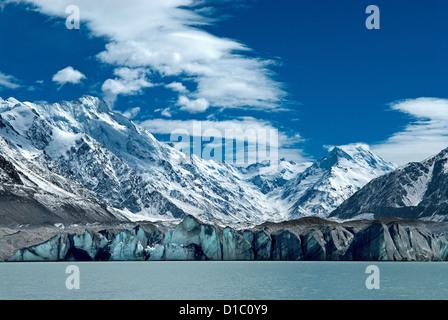 Nuova Zelanda, Isola del Sud. Tasman Glacier Lago terminale. Foto Stock