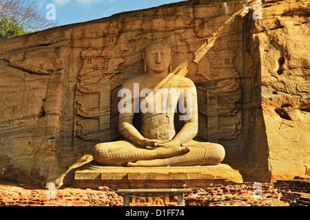 Antica città di Polonnaruwa, Sito Patrimonio Mondiale dell'UNESCO, Polonnaruwa, Sri Lanka, Asia Foto Stock