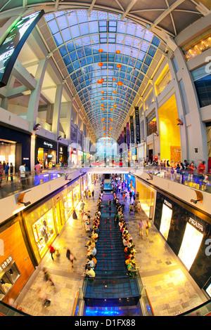 Centro Commerciale per lo shopping al Marina Bay sands hotel e complesso di casinò, Singapore, Sud-est asiatico, Foto Stock