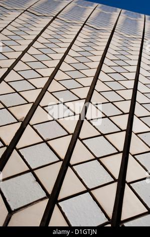 Sydney Opera House close up, Sito Patrimonio Mondiale dell'UNESCO, Sydney, Nuovo Galles del Sud, Australia Pacific Foto Stock