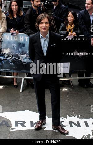 Cillian Murphy, frequenta la premiere europeo del 'The Dark Knight sorge' Leicester Square, Londra, Regno Unito, Foto Stock