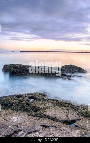 Alba sul porto di Brixham e Torbay nel Devon, Regno Unito Foto Stock