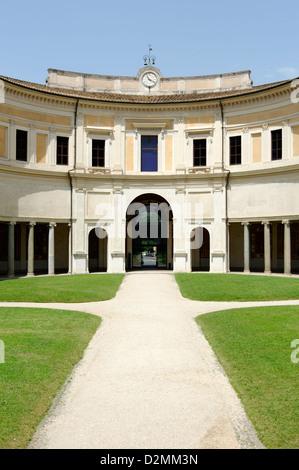 italia roma cortile circolare foto immagine stock