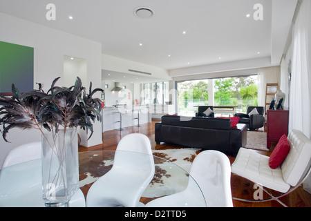 Soggiorno moderno in Australian mansion Foto Stock