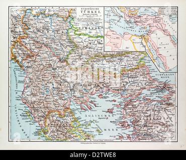Mappa Del Montenegro Serbia Macedonia Grecia Settentrionale