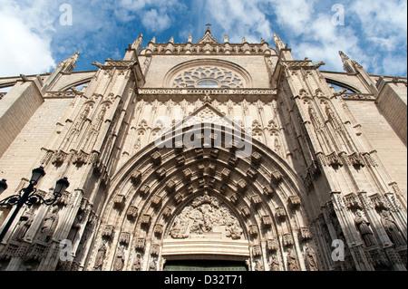 Cattedrale di Siviglia, in Andalusia, Spagna Foto Stock