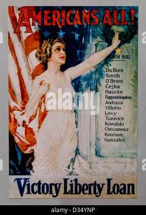 La prima guerra mondiale la vittoria della libertà poster di prestito - USA Foto Stock