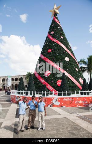 America, il mar dei Caraibi, isola Hispaniola, Repubblica dominicana, santo domingo città piccola piazza padre bellini, Foto Stock