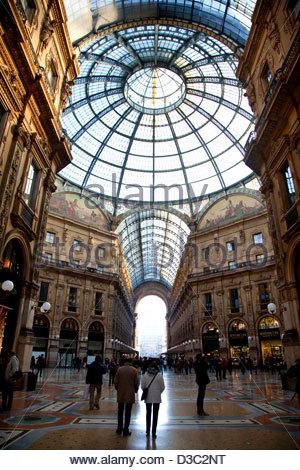Galleria Vittorio Emanuele,Milano,Italia Foto Stock