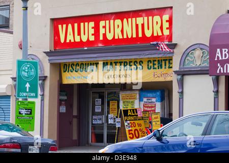 Discount Furniture Store Foto Stock