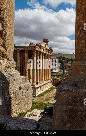 Tempio di Venere le rovine di Baalbek, Libano. Una parte della città antica Heliopolis nella Beqaa Valley. Foto Stock