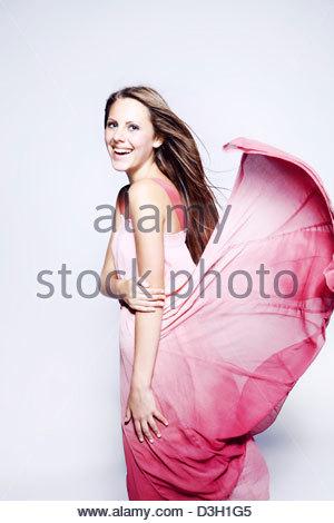 Vestito rosa Foto Stock