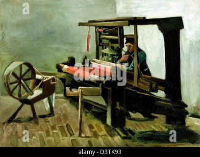 Vincent van Gogh, Weaver 1884 olio su tela. Museo delle Belle Arti di Boston, Massachusetts Foto Stock