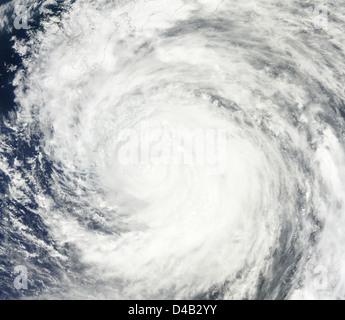 Il tifone Ma-sul vicino Giappone Foto Stock