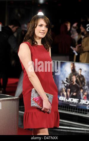 Valutazione assiste il G.I JOE UK Premiere il 18/03/2013 all'Empire Leicester Square, Londra. Persone nella foto: Foto Stock