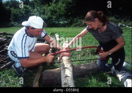 Harrow Woodcraft Folk, Mad Bess legno campeggio, Harefield, UK. Foto Stock