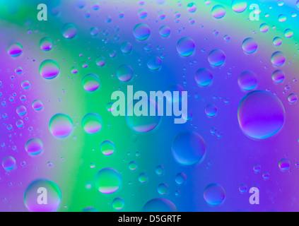 Abstract colorate le goccioline di acqua Foto Stock