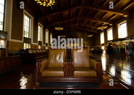 Interno del Grand Union Station, LA. Foto Stock