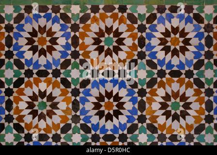Blu piastrelle marocchine marrakech marocco foto immagine