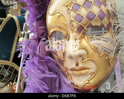 Maschere veneziane in Venezia Italia Foto Stock