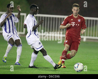 Il Bayern Monaco Diego è contento (R) in azione durante il test match tra Bundesliga club di calcio FC Bayern Monaco Foto Stock