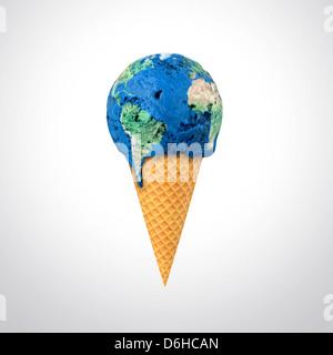 Il riscaldamento globale, opere d'arte concettuale Foto Stock