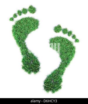 Impronta ecologica, opere d'arte concettuale Foto Stock