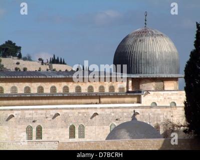 Moschea Al Aqsa sul monte del tempio di Gerusalemme Foto Stock