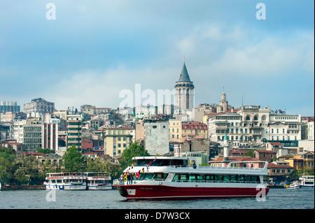 Torre di Galata, Istanbul, Turchia Foto Stock