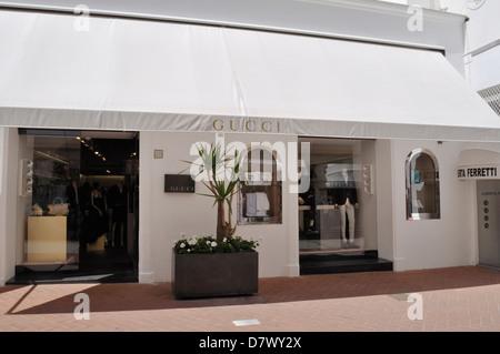 Il negozio di Gucci in Capri sulla isola di Capri. Foto Stock