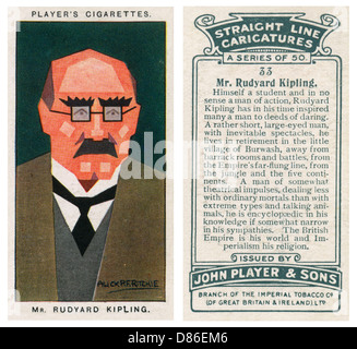 Rudyard Kipling romanziere inglese Foto Stock