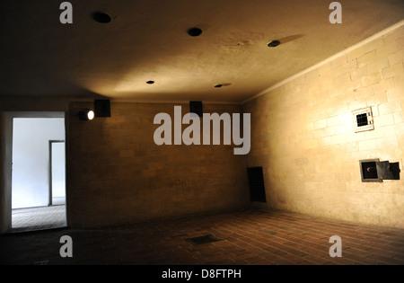Campo di Concentramento di Dachau. Campo nazista di prigionieri aperto nel 1933. La camera a gas. Germania.