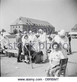 La liberazione di Bergen-belsen Campo di Concentramento BU9221. Foto Stock