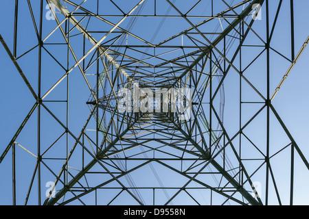 Pilone di elettricità da sotto la ricerca di