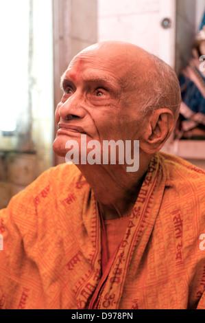 Hindu uomo santo nella Vecchia Delhi India Foto Stock