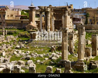 Tempio di Venere tempio della città antica di Baalbek, Libano, Medio Oriente Foto Stock
