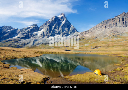 Monte Cervino (Matterhorn), Breuil Cervinia, Valle d'Aosta, Alpi Italiane, Italia Foto Stock