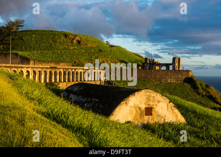 Brimstone Hill Fortress, Sito Patrimonio Mondiale dell'UNESCO, Saint Kitts, Saint Kitts e Nevis, Isole Sottovento, West Indies, dei Caraibi Foto Stock