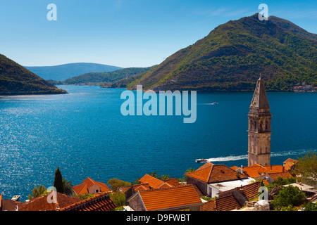 Perast e della Baia di Kotor, Sito Patrimonio Mondiale dell'UNESCO, Montenegro Foto Stock