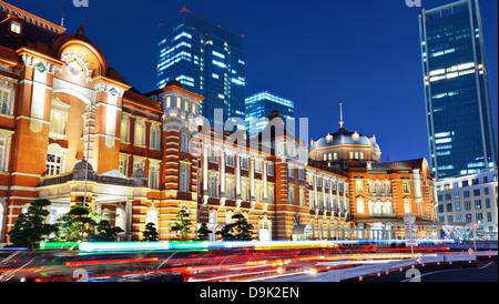 Storica Stazione di Tokyo nel quartiere Marunouchi di Tokyo, Giappone. Foto Stock