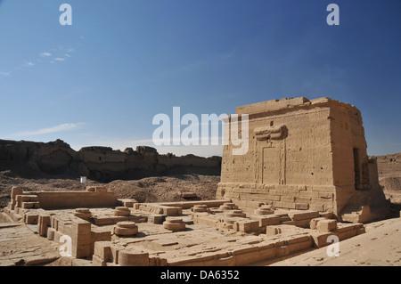 L'Isis cappella costruita dall'imperatore romano Augusto presso gli antichi egiziani di fertilità e di amore tempio Foto Stock