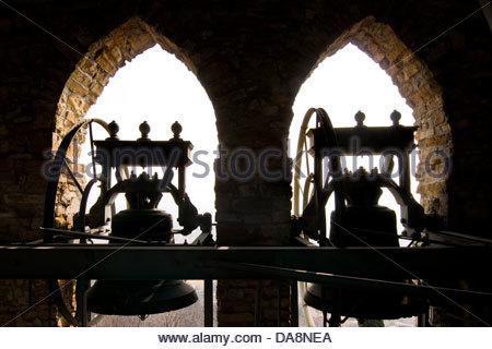 Antica Pieve di San Giovanni Battista,sotto il Monte,Lombardia,Italia Foto Stock