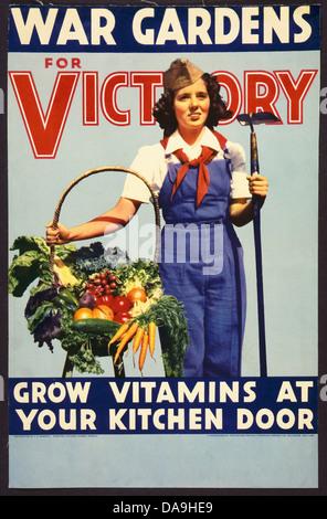 La II guerra mondiale, seconda guerra mondiale, guerra mondiale, guerra, poster, Propaganda propaganda poster, STATI Foto Stock
