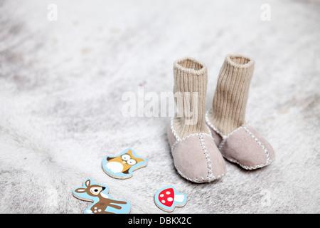 Pantofola calze e giocattoli, Monaco di Baviera, Germania Foto Stock
