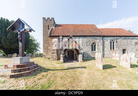 Chiesa di San Giovanni Battista, North Baddesley vicino a Romsey nella diocesi di Winchester, Hampshire, Inghilterra Foto Stock